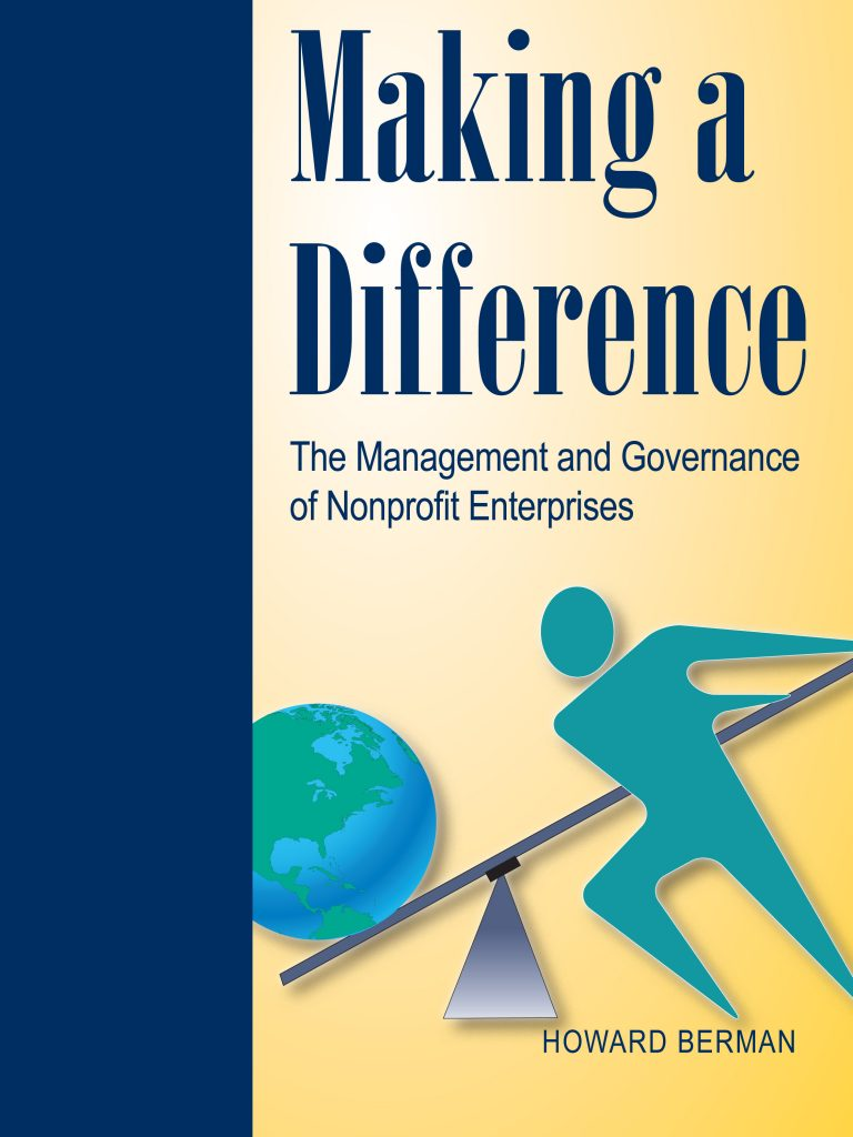 Making A Difference, First Edition cover photo by Howard Berman